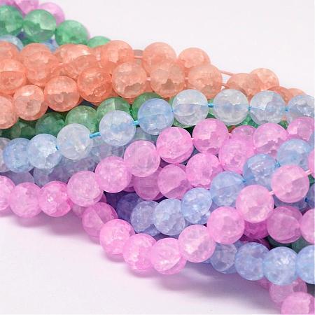 Synthetic Crackle Quartz Bead StrandsCCG-K002-10mm-M-1