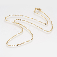 304 Stainless Steel Rolo Chain Necklaces NJEW-F179-03G