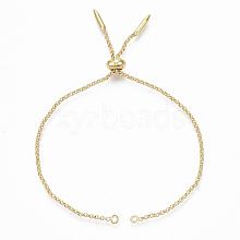 Adjustable Brass Slider Bracelets Making KK-T059-01G-NF