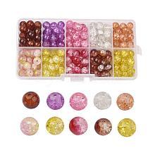 Transparent Crackle Glass Beads CCG-X0008-02-8mm