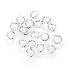 304 Stainless Steel Open Jump Rings STAS-F110-08P