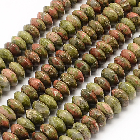 Natural Unakite Beads Strands G-UK0003-22-1