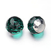 Faceted Round Ball Glass Cabochons X-GGLA-L008C-M-2