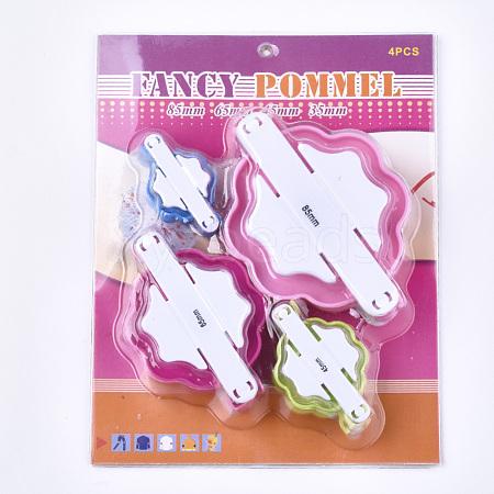 DIY ABS Plastic Knitting Loom for Making Pom PomX-TOOL-T006-30-1