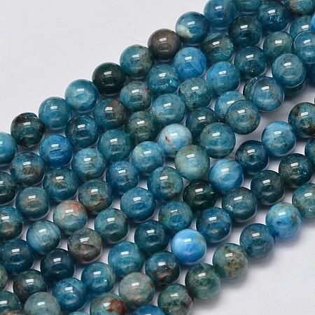 Natural Apatite Round Bead StrandsG-M304-14-6mm-1