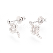 925 Sterling Silver Stud Earring STER-I018-08P