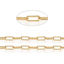 Soldered Brass Paperclip Chains CHC-D025-04G