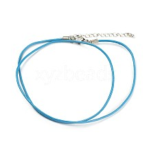 Leather Cord Necklace Making  NJEW-XCP002-03