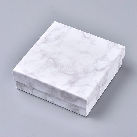 Square Kraft Cardboard Jewelry BoxesCBOX-L008-001-1