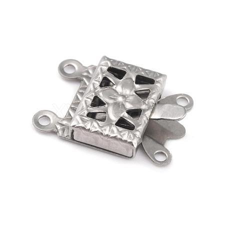 304 Stainless Steel Box ClaspsSTAS-H151-13P-1