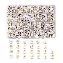 Plating Acrylic Beads SACR-X0015-12