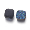 Imitation Druzy Gemstone Resin Beads X-RESI-L026-K-3