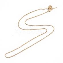 Brass Venetian Chain NJEW-E151-04G