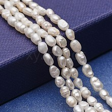 Natural Cultured Freshwater Pearl Beads Strands PEAR-P060-09