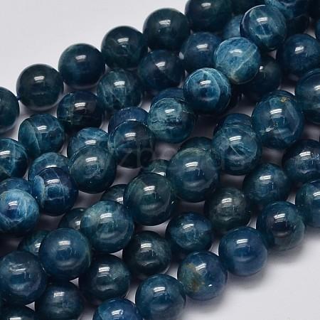 Round Natural Apatite Beads StrandsG-K068-04-8mm-1