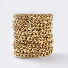 304 Stainless Steel Cuban Link Chains CHS-G010-02G