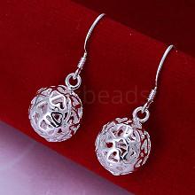 Ball Brass Dangle Earrings EJEW-BB11836