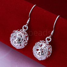 High Quality Ball Brass Dangle Earrings EJEW-BB11836