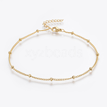 304 Stainless Steel Anklets X-AJEW-H013-04G