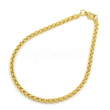 304 Stainless Steel Wheat Chain Bracelet Makings STAS-A028-B006G