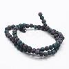 Natural Lava Beads StrandsX-G-K257-01A-6mm-2