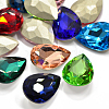 Faceted Drop Glass Pointed Back Rhinestone Cabochons RGLA-A008-18x25mm-SM-1