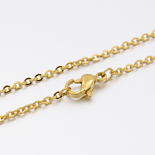 304 Stainless Steel Link Chain Necklace Making MAK-M007-G