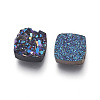 Imitation Druzy Gemstone Resin Beads X-RESI-L026-K-2